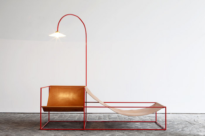 zetel leder2 Furniture collection by Muller Van Severen in thisispaper.com