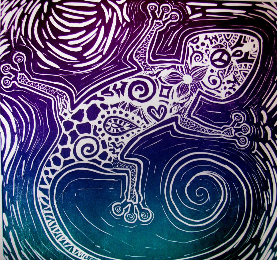 Printmaking Lizard | Art, Art inspiration, Printmaking